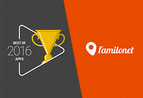 "Familonet wins Google's  ""Best Apps 2016"" award"
